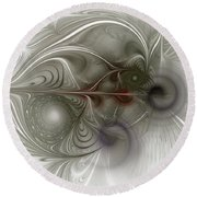 Round Beach Towel featuring the digital art Oh That I Had Wings - Fractal Art by NirvanaBlues