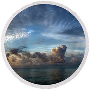 Oh, What A Beautiful Morning Round Beach Towel