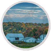 Ohio Farm Round Beach Towel