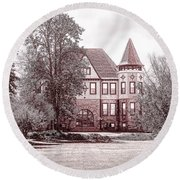 Round Beach Towel featuring the photograph Ohio Veterans Home by Mary Timman