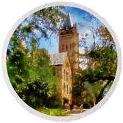 Ohio Wesleyan Chapel Round Beach Towel