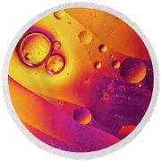 Oil And Water 8 Round Beach Towel