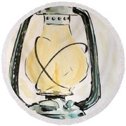 Oil Lamp Round Beach Towel