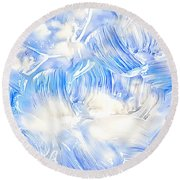 Oil Painting Abstract Background Round Beach Towel by Serena King