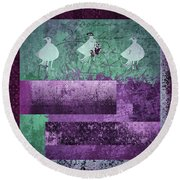 Round Beach Towel featuring the digital art Oiselot 01 - J097179222-bl02a by Variance Collections
