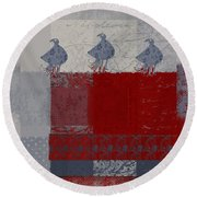 Round Beach Towel featuring the digital art Oiselot - J106161103_02bb by Variance Collections