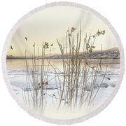 Round Beach Towel featuring the photograph Okanagan Glod by John Poon