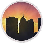 Oklahoma City Sunset Usokoc-pa01 Round Beach Towel