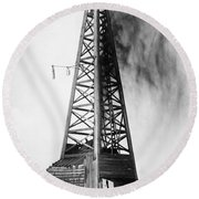 Oklahoma: Oil Well, C1922 Round Beach Towel