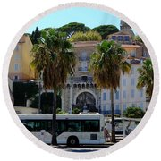 Old And Beautiful Cannes Round Beach Towel