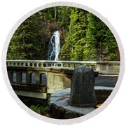 Old Barlow Road Bridge Round Beach Towel