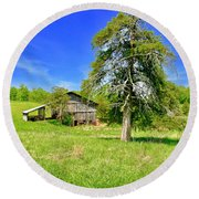 Old Barn, Smith Mountain Lake Round Beach Towel