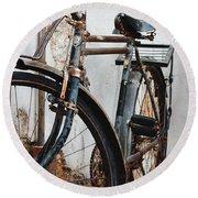 Old Bike II Round Beach Towel