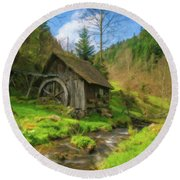 Old Black Forest Mill Round Beach Towel