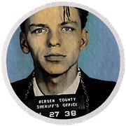 Old Blue Eyes - Frank Sinatra Round Beach Towel