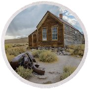 Old Bodie House II Round Beach Towel
