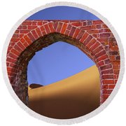 Old Brick Portal To The Desert Round Beach Towel