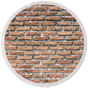 Round Beach Towel featuring the photograph Old Brick Wall by Jingjits Photography