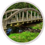 Old Bridge Central Virginia Round Beach Towel by Melissa Messick