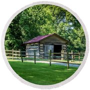 Old Building - The Hermitage Round Beach Towel