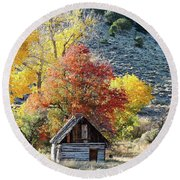 .  Butch Cassidy's Home Place  Round Beach Towel