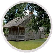 Round Beach Towel featuring the photograph Old Cajun Home by Judy Vincent
