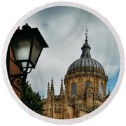 Old Cathedral, Salamanca, Spain  Round Beach Towel