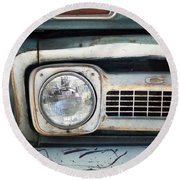 Old Chevy Pickup Truck Round Beach Towel