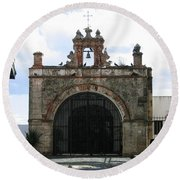 Old Church Gate Round Beach Towel