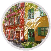 Old City Round Beach Towel