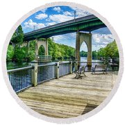 Old Conway Bridge Round Beach Towel