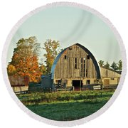 Old Country Barn_9302 Round Beach Towel