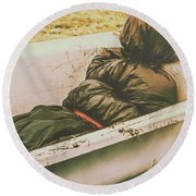 Old Country Horrors Round Beach Towel