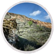 Old Country Hovel Round Beach Towel by RicardMN Photography