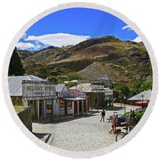 Round Beach Towel featuring the photograph Old Cromwell Town by Nareeta Martin