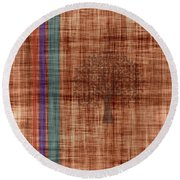 Old Fabric Round Beach Towel