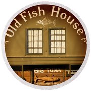 Old Fish House Georgetown South Carolina Round Beach Towel by Bob Pardue