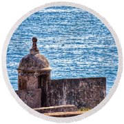 Old Fort  Round Beach Towel