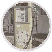 Old Gas Pump Round Beach Towel by Robert Bales