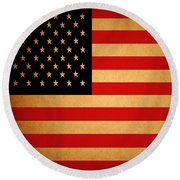 Old Glory . Square Round Beach Towel