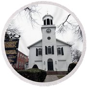 St. Georges Church Episcopal Anglican Round Beach Towel