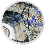 Old Growth Wisteria Round Beach Towel