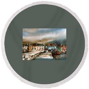 Old Harbour Dingle, Kerry Round Beach Towel
