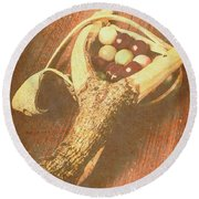 Old Hit Of Confectionery Round Beach Towel