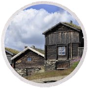 Old Houses In Roeros Round Beach Towel by Thomas M Pikolin