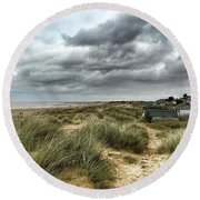Old Hunstanton Beach, North #norfolk Round Beach Towel
