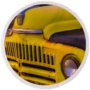 Old International Pickup Round Beach Towel by Garry Gay