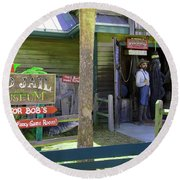 Old Jail Museum St. Augustine Florida Round Beach Towel by Bob Pardue