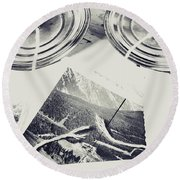 Old Line Of Failure Round Beach Towel
