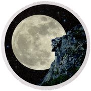 Old Man / Man In The Moon Round Beach Towel